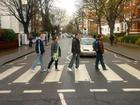 With a Little Help from My Friends- Jans on Abbey Road after we'd signed the wall outside of Apple Studios.