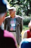 Professor Eugene Putala leads a tour through Root Glen in 2002.