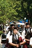 Bagpipes of the Mohawk Valley Frasers will lead the reunion parade.