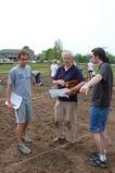 Frank Sciacca with student gardeners