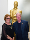 MacDonald and Rosemary Brandenburg, current Academy Grants Committee Chair, in the Mary Pickford Building, home of the Linwood Dunn Theater, the Academy offices and the Academy Archive.