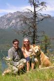 Goodale, Nauman and friend in Slocan Valley, British Columbia
