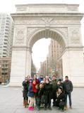 Program in New York City students and Professor Maurice Isserman in Washington Square Park.