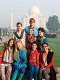 Hamilton students in India with program director Prof. Lisa Trivedi and assistant director and Hamilton alumnus Jack Reigeluth '07.