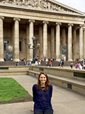 Lauren Scutt '16 outside the British Museum.