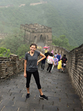 Annie Whitehurst at the Great Wall of China.