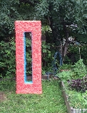 """Aperture: Gladiolus and Calypso"" by Rebecca Murtaugh at Brooklyn's East Fourth Street Community Gardens."