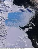 Satellite Image of Larsen B Ice Shelf Collapse.