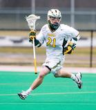 Hamilton assistant men's lacrosse coach Andrew Kelleher as a player at the University of Vermont.