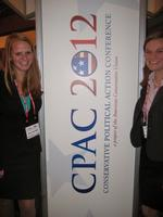 Amy Soenksen '13 and Ellie Fausold '13 at CPAC.