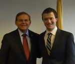 Colin Hostetter '13, right, with New Jersey Senator Robert Menendez.