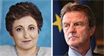 Shirin Ebadi and Bernard Kouchner