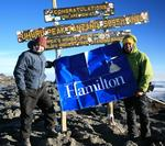 Steiner '07 and Daniels '07 at the top of Mt. Kilimanjaro