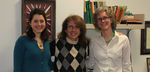From left Meghan O'Sullivan '15, Kate Parker-Burgard '84  and Beth Yavenditti  '97 at St. Luke's School in New Canaan, Conn.