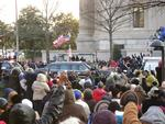 Photo taken by Will Leubsdorf '10 of the Obama Motorcade on the Inaugural Parade Route