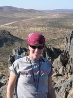 Mary Beth Day '07 while on a field excursion in Namibia.