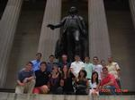 Students in the New York City Program visit Federal Hall.