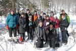 Members of the Environmental Studies Forever Wild class in the wilderness near Old Forge.