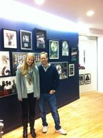 Hannah Hoar '13 shadowed Ben Berkman '96 at Octone Records.
