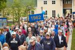 Members of the Class of 1962 march in the Reunion parade.