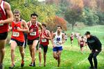 The men's cross country team hosted a meet on Saturday.
