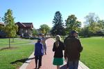 Terry Hawkridge led a Fallcoming campus tree tour.