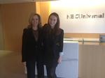 Hannah Fine, right, and Pat Fili-Krushel P'14, chairman of NBCUniversal News Group.