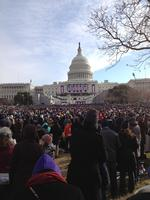 A view from the front lawn of the Capitol.