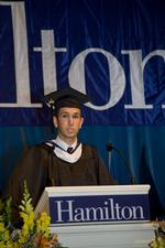 Keith Gross, valedictorian of the Class of 2009. Photo by Vickers & Beechler