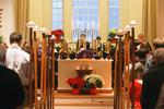 Chaplain Rev. Jeffrey McArn officiated over the Lessons & Carols service with Hamilton students as readers and candle bearers