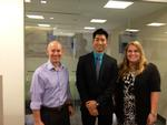 Steve Levi P'15, Lingpeng (Bill) Liu '15, Mary Jurgensen at TD Bank.