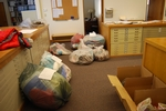 Some of the 90 pounds of items collected in the Mini Cram & Scram.