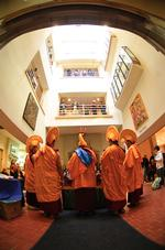 An Emerson Gallery exhibit in which Buddhist monks created a sand mandala drew much media attention.
