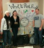 Lauren Howe '13, Ellie Fausold 13 and Taylor Davis '15 at the Real Food Challenge summit.