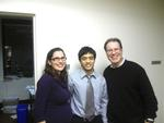Clare Cunningham '98, Redwan Saleh '13 and Eric Portuguese P'11 at Lester Schwab Katz and Dwyer.
