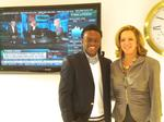 Ricardo Welch '14 and NBCUniversal's executive vice president, Patricia Fili-Krushel P '14 in NYC.