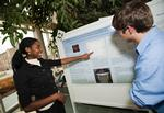 Students displayed their science posters in the atrium.