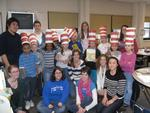 Hamilton's America Reads tutors with their second-graders at Kernan Elementary.