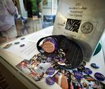 Items to be placed in the 2012 time capsule on display in KJ Commons.