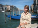 Whitney Overocker '09 on Venice's Grand Canal.