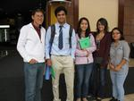 (l-r) Assistant Professor of Biology Wei-Jen Chang with  Ravi Jariwala, Chun Yee Lau, Tani Leigh and Barsha Baral.
