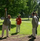 Terry Hawkridge leads alumni tour of the College Arboretum