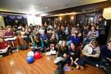 Students gathered in the Sadove Student Center lounge to watch election returns on Nov. 6.