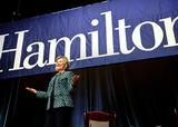 Former Secretary of State Hillary Rodham Clinton at Hamilton College.