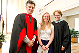 Soper Merrill winner Maggie Doolin '14 with Dean of Faculty Patrick Reynolds and Dean of Students Nancy Thompson.