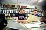 Matt Currier '17 and Assistant Professor of History John Eldevik worked together on a 2014 Emerson research project.