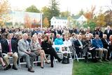 A large crowd attended The Kennedy Center for Theatre and the Studio Arts dedication ceremony on Fallcoming Weekend.