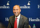 Derek Jeter held a press conference at Hamilton before the Great Names event.