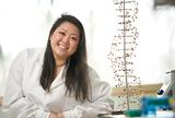 Kari Koga '15 in the genetics lab in Hamilton's Taylor Science Center.
