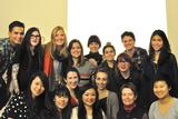 Students in the New York City Program with Kathryn Parker Almanas (back row, second from left) and Program Director Ella Gant (front row, second from right)